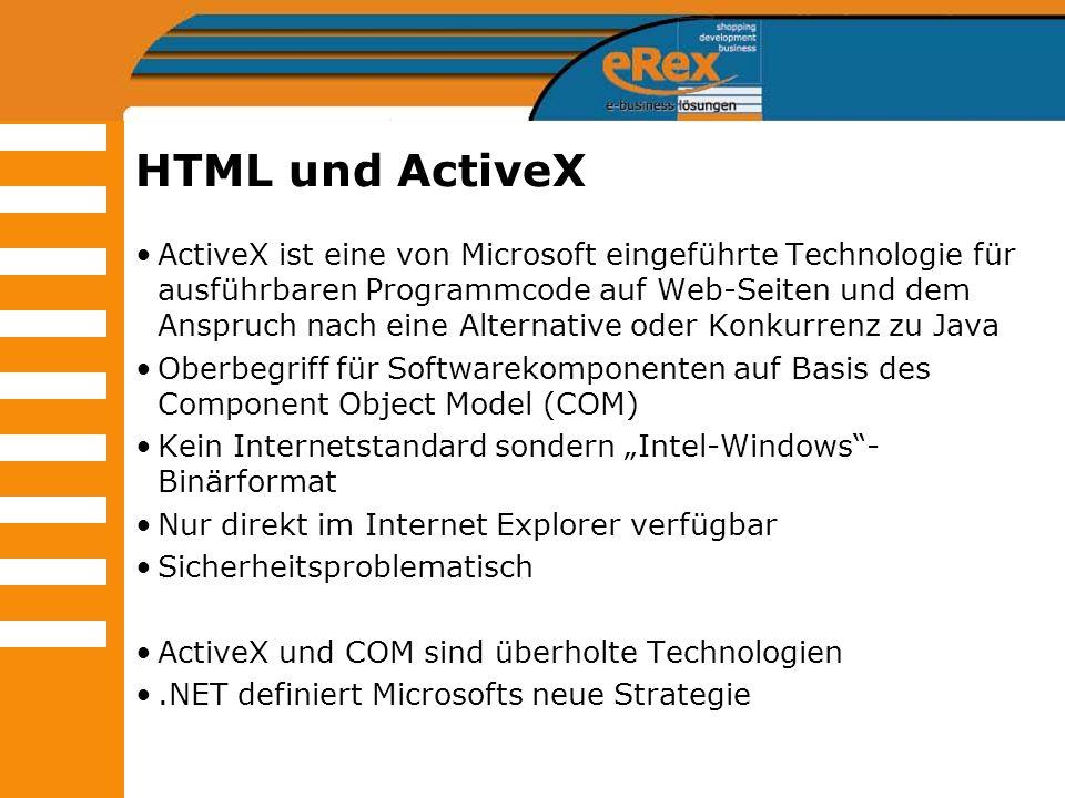 HTML und ActiveX