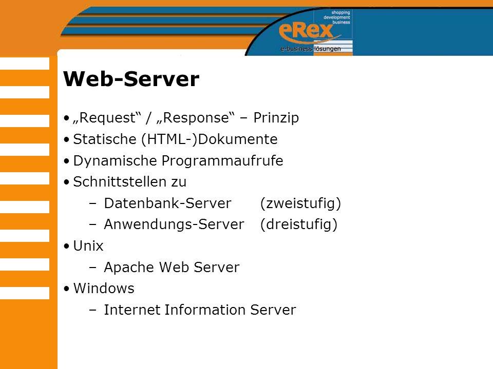 "Web-Server ""Request / ""Response – Prinzip Statische (HTML-)Dokumente"