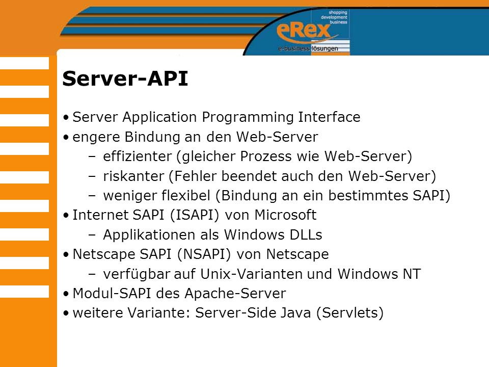 Server-API Server Application Programming Interface