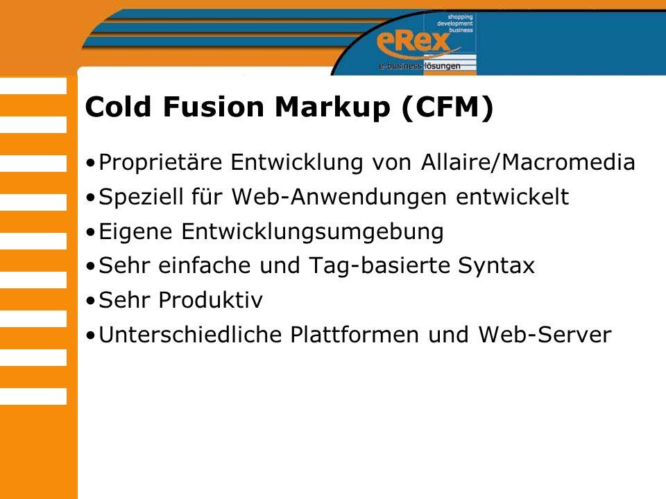 Cold Fusion Markup (CFM)
