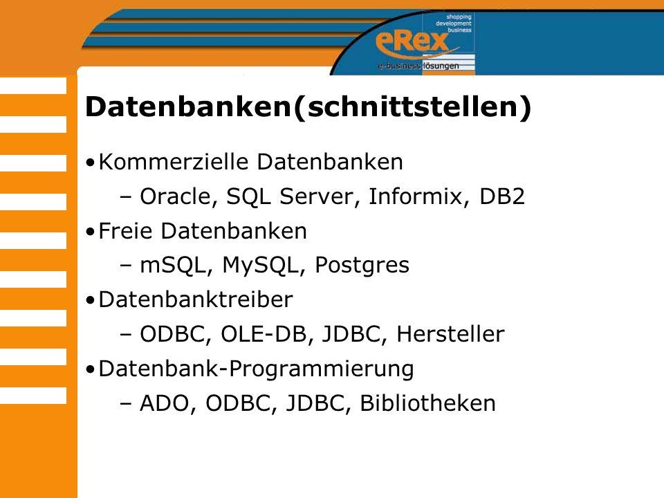 Datenbanken(schnittstellen)