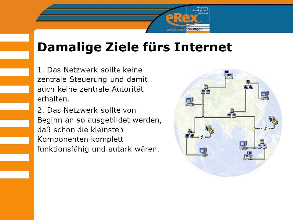 Damalige Ziele fürs Internet