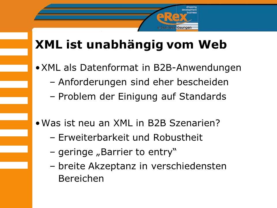 XML ist unabhängig vom Web