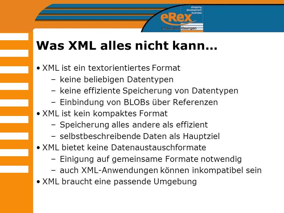 Was XML alles nicht kann...