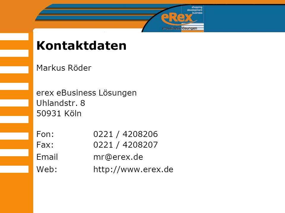 Kontaktdaten Markus Röder