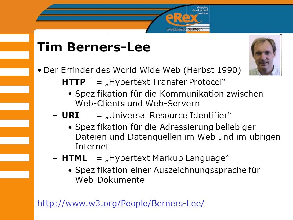Tim Berners-Lee Der Erfinder des World Wide Web (Herbst 1990)