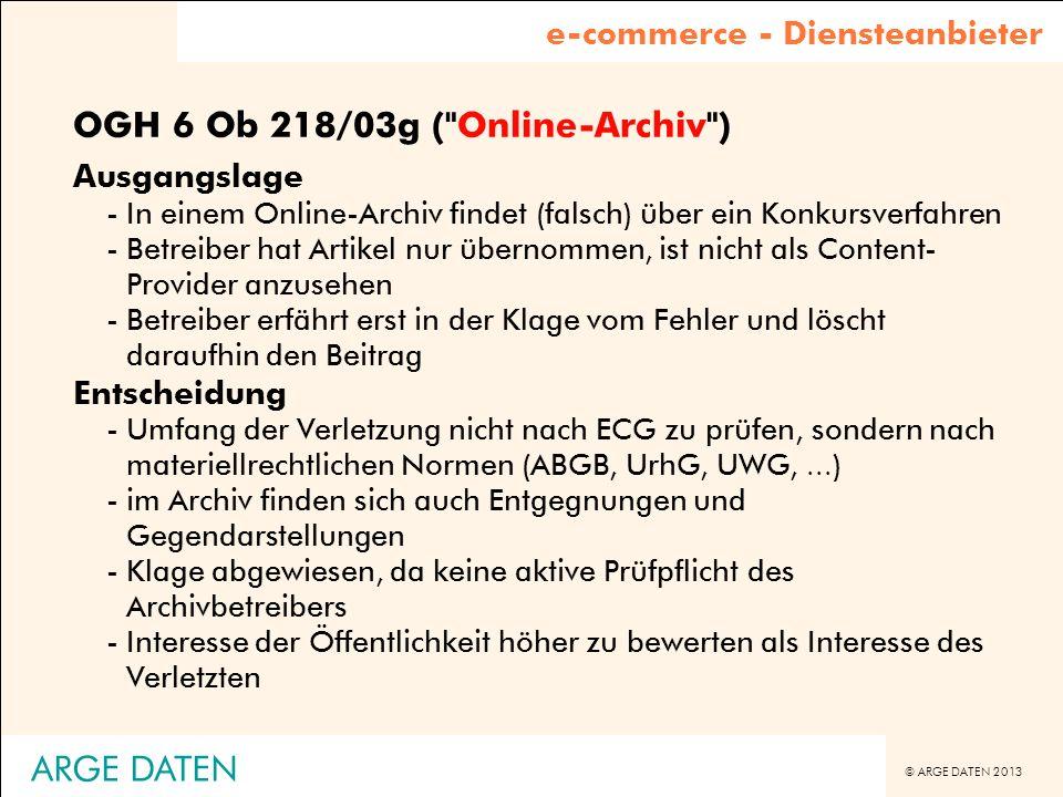 OGH 6 Ob 218/03g ( Online-Archiv )
