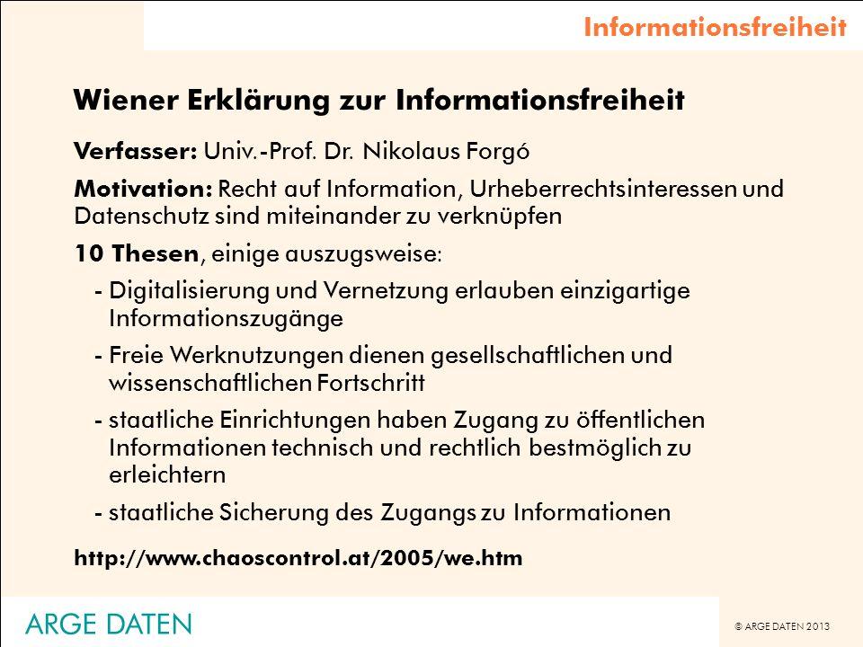 Wiener Erklärung zur Informationsfreiheit