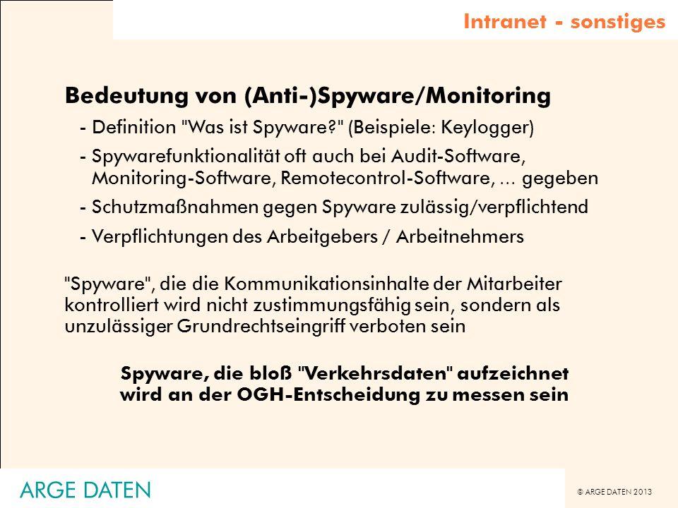 Bedeutung von (Anti-)Spyware/Monitoring