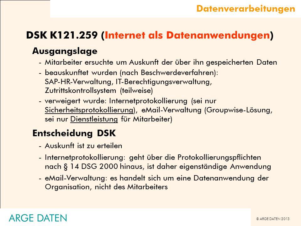 DSK K121.259 (Internet als Datenanwendungen)