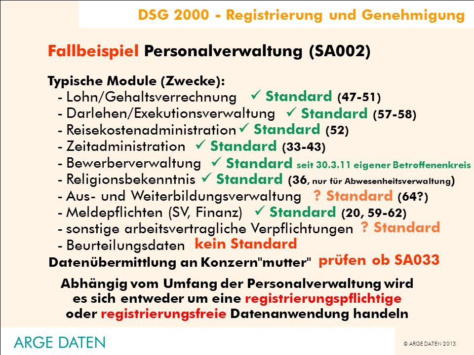 Fallbeispiel Personalverwaltung (SA002)