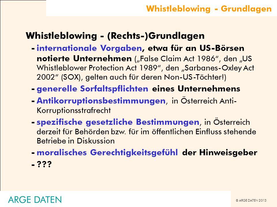 Whistleblowing - (Rechts-)Grundlagen