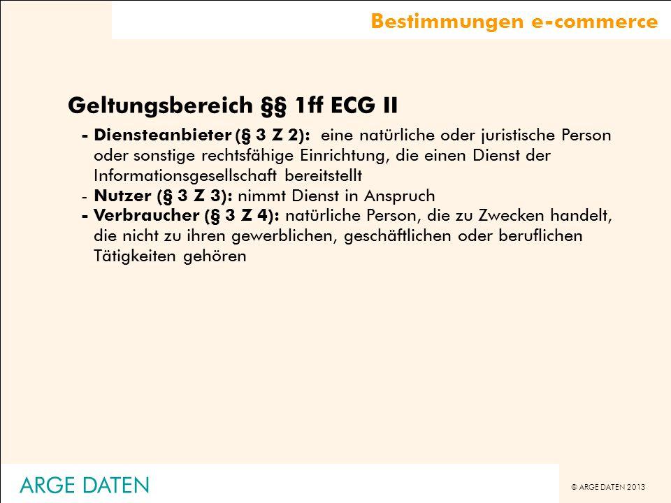 Geltungsbereich §§ 1ff ECG II