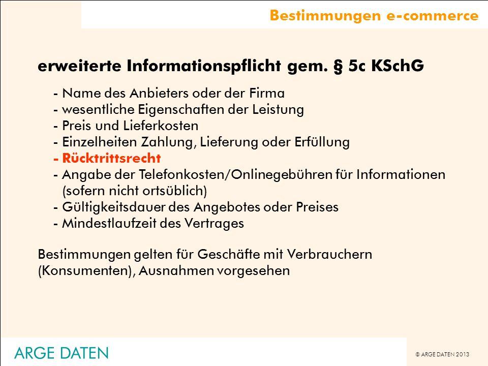 erweiterte Informationspflicht gem. § 5c KSchG