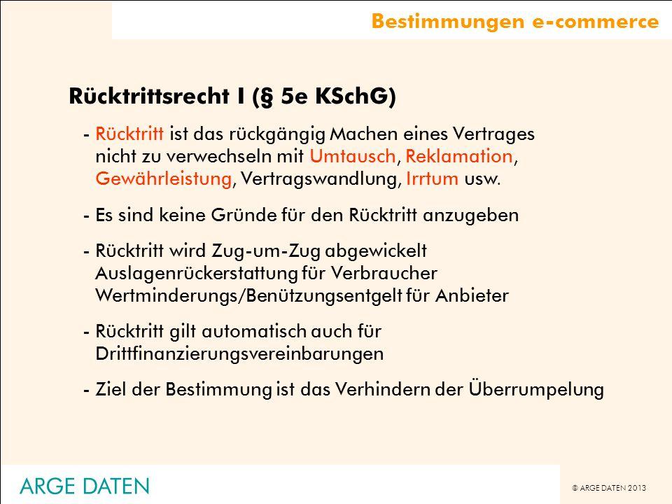 Rücktrittsrecht I (§ 5e KSchG)