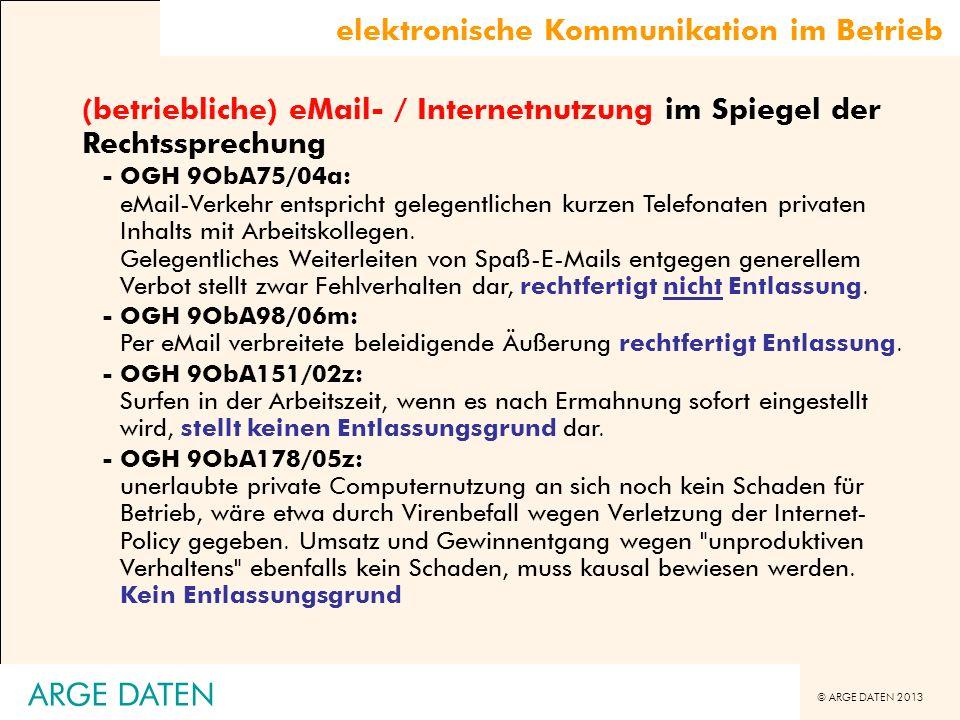ARGE DATEN elektronische Kommunikation im Betrieb