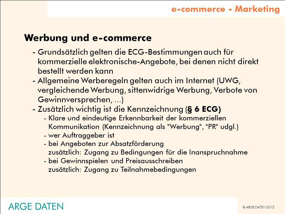 Werbung und e-commerce