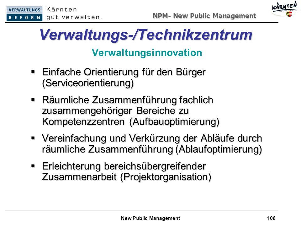 Verwaltungs-/Technikzentrum Verwaltungsinnovation