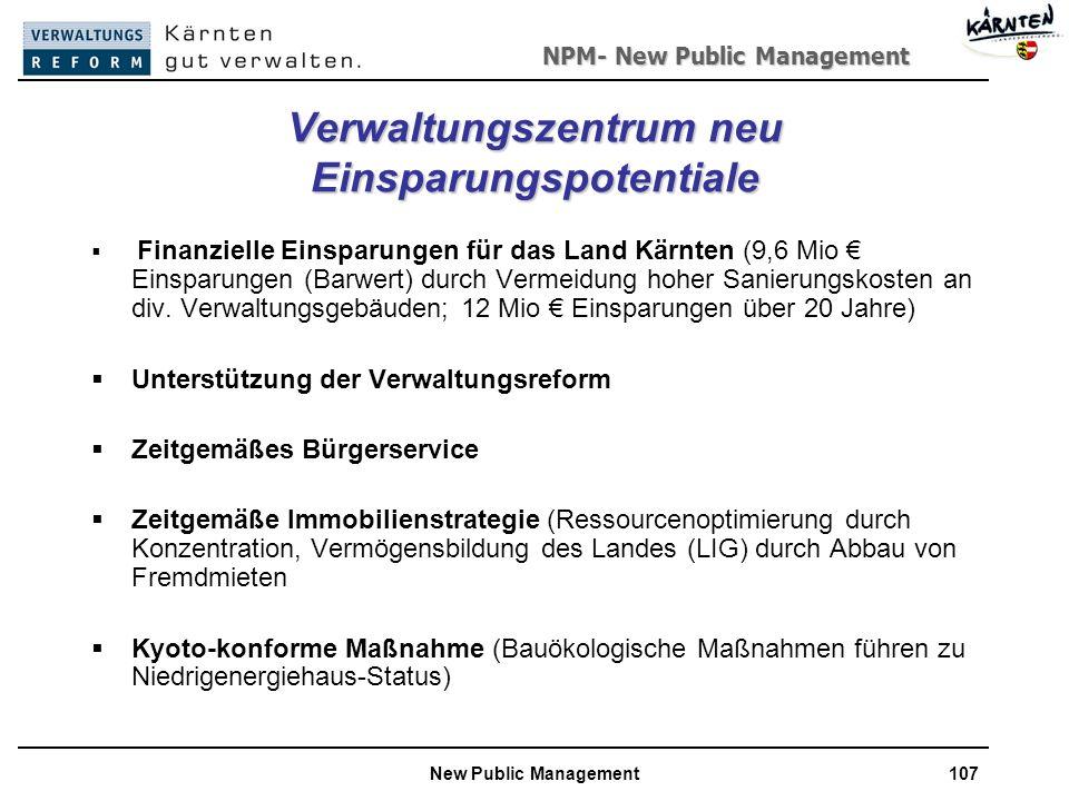 Verwaltungszentrum neu Einsparungspotentiale
