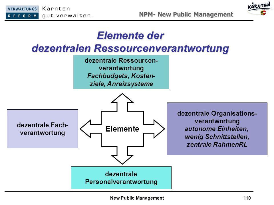 Elemente der dezentralen Ressourcenverantwortung