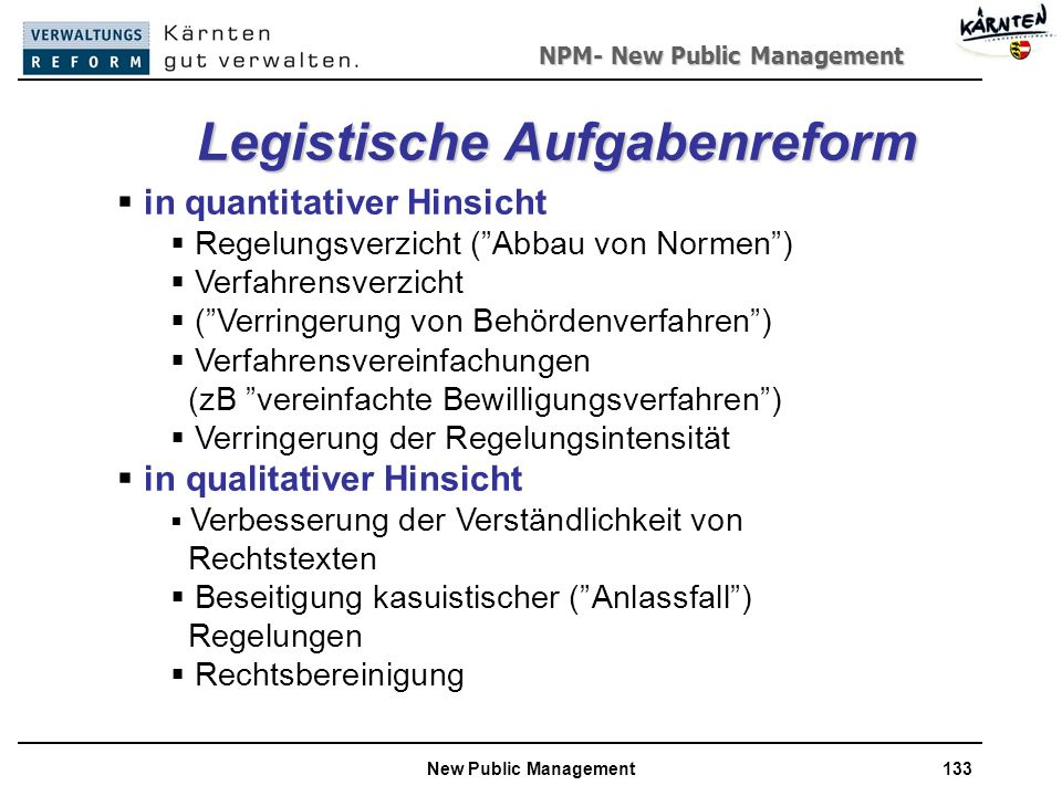 Legistische Aufgabenreform