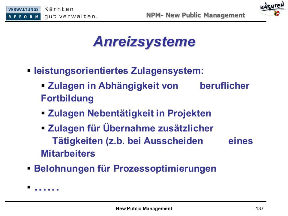 Anreizsysteme leistungsorientiertes Zulagensystem: