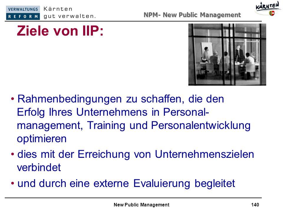 Ziele von IIP:
