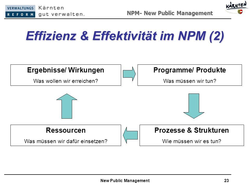 Effizienz & Effektivität im NPM (2)