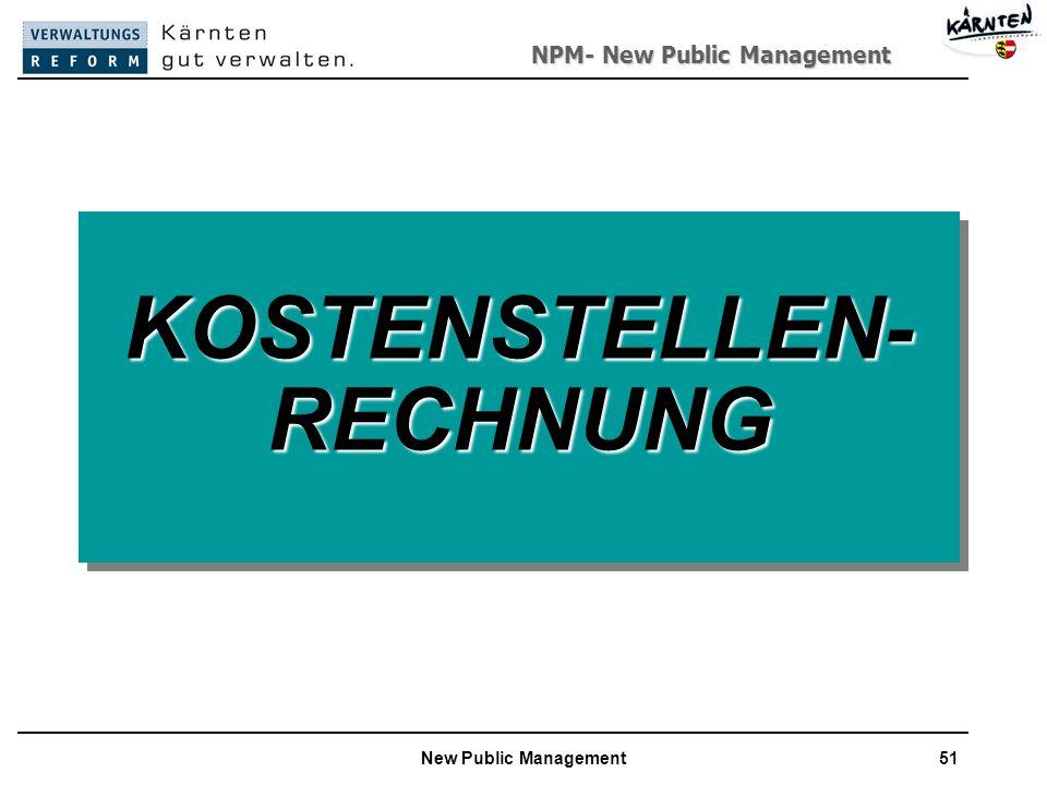 KOSTENSTELLEN-RECHNUNG