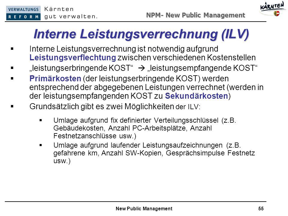 Interne Leistungsverrechnung (ILV)