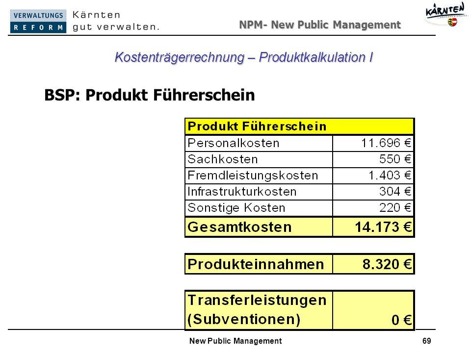 Kostenträgerrechnung – Produktkalkulation I