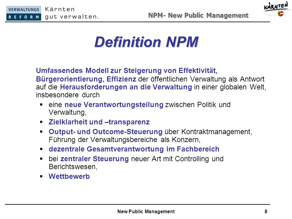 new public management definition