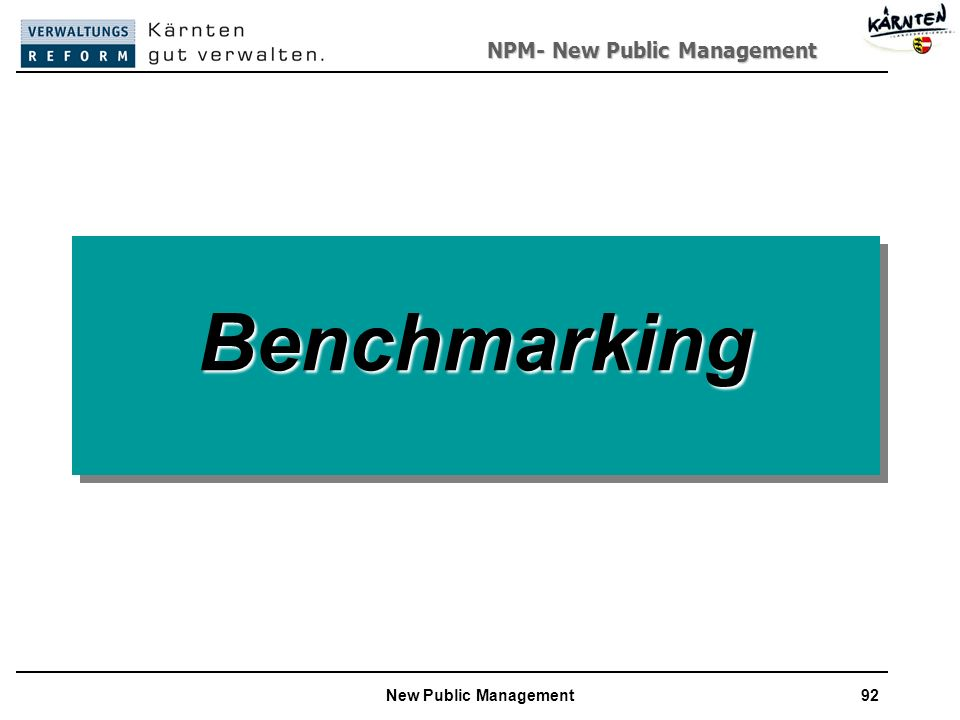 Benchmarking New Public Management