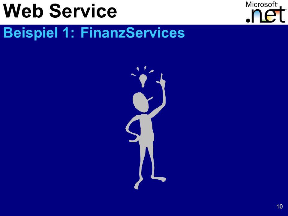 Web Service Beispiel 1: FinanzServices