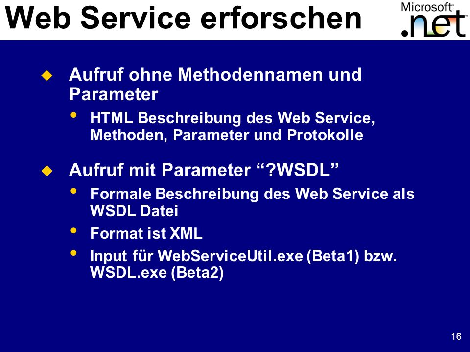 Web Service erforschen