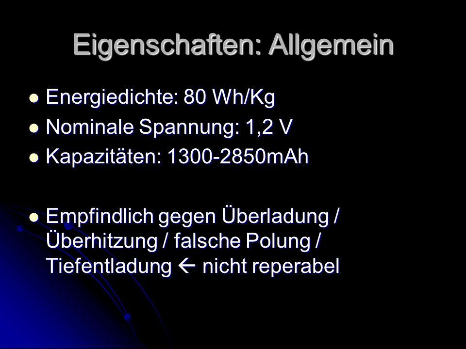 Eigenschaften: Allgemein
