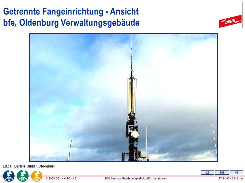 Getrennte Fangeinrichtung - Ansicht bfe, Oldenburg Verwaltungsgebäude