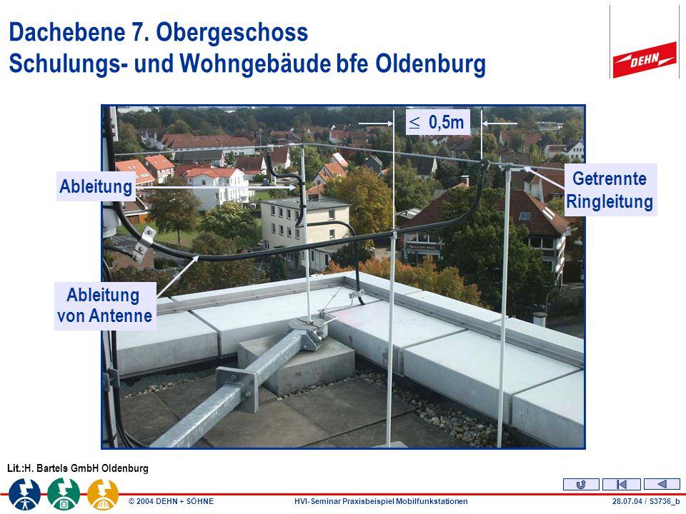 Dachebene 7. Obergeschoss Schulungs- und Wohngebäude bfe Oldenburg