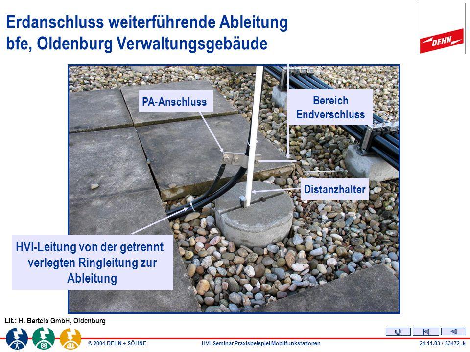 Beitrag - Autor Erdanschluss weiterführende Ableitung bfe, Oldenburg Verwaltungsgebäude. PA-Anschluss.