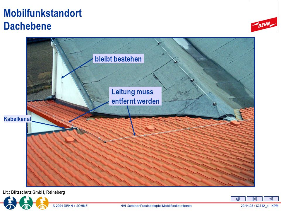 Mobilfunkstandort Dachebene