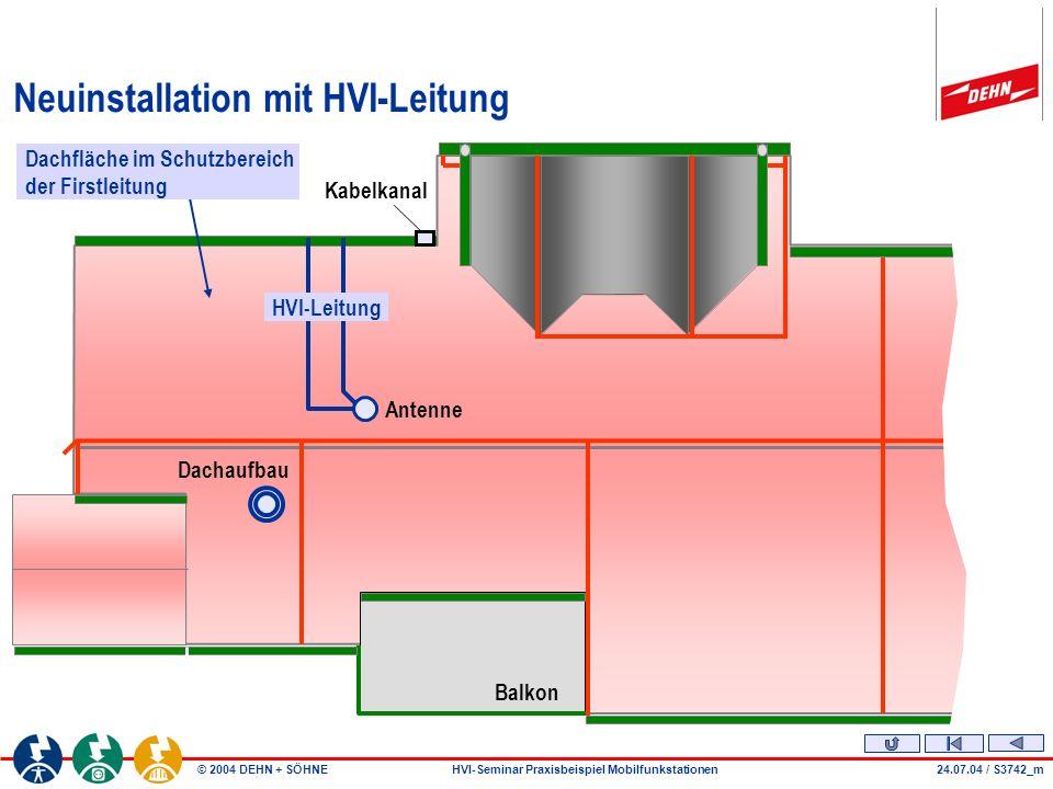 Neuinstallation mit HVI-Leitung