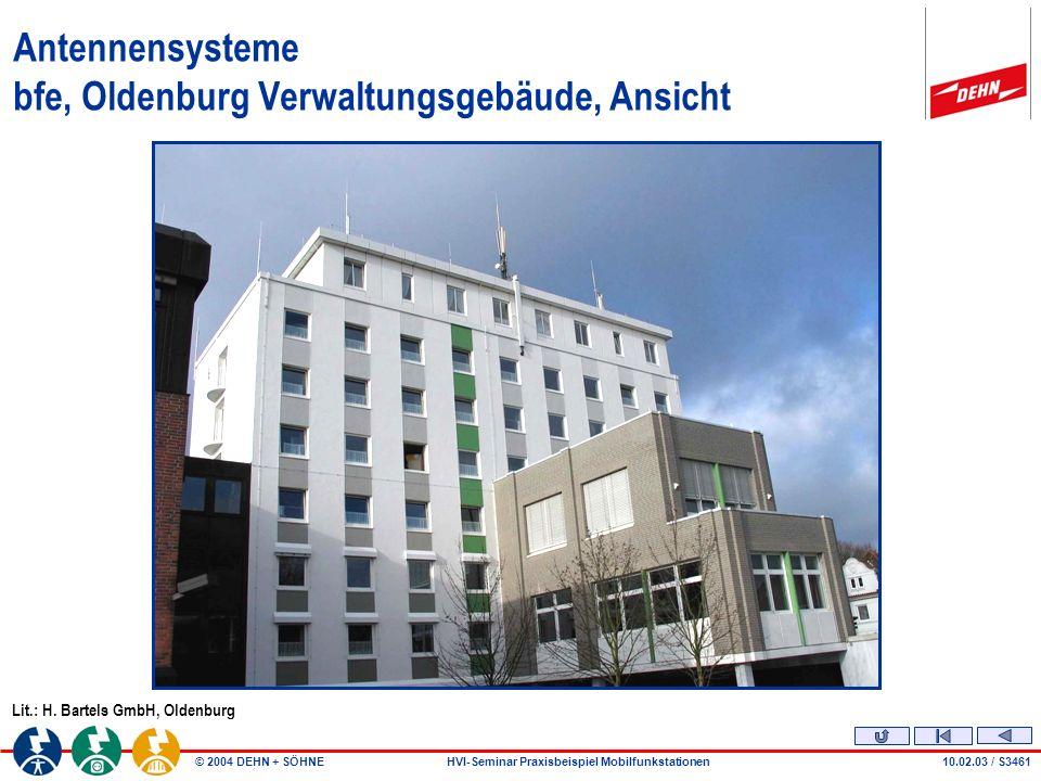 Antennensysteme bfe, Oldenburg Verwaltungsgebäude, Ansicht