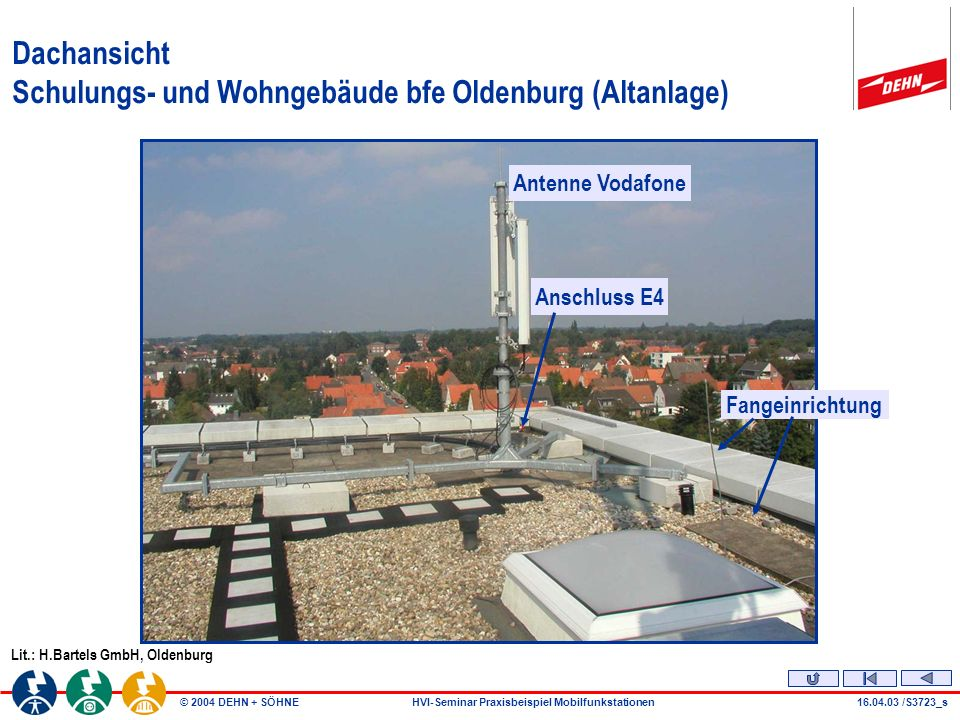 Dachansicht Schulungs- und Wohngebäude bfe Oldenburg (Altanlage)