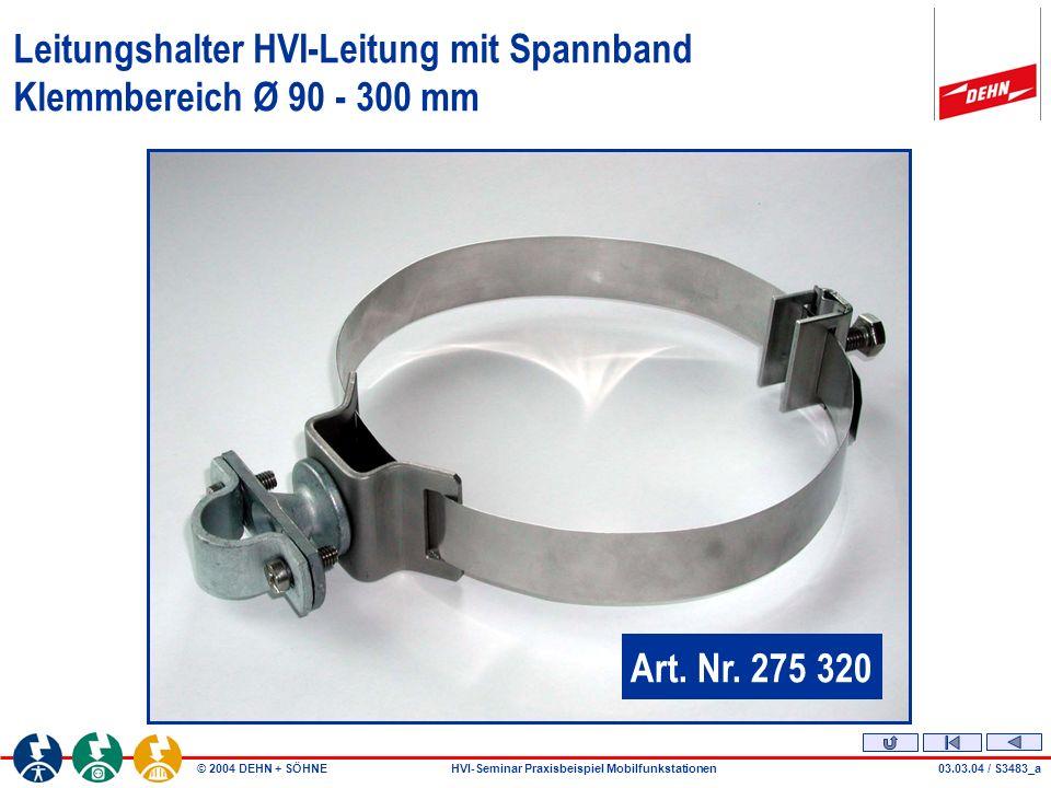Leitungshalter HVI-Leitung mit Spannband Klemmbereich Ø 90 - 300 mm