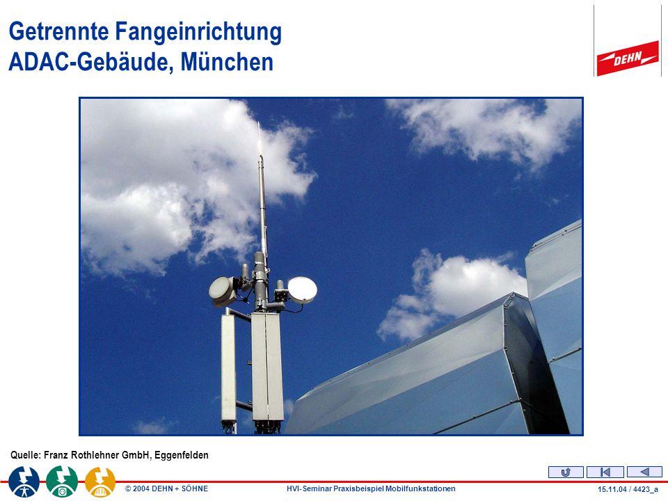 Getrennte Fangeinrichtung ADAC-Gebäude, München