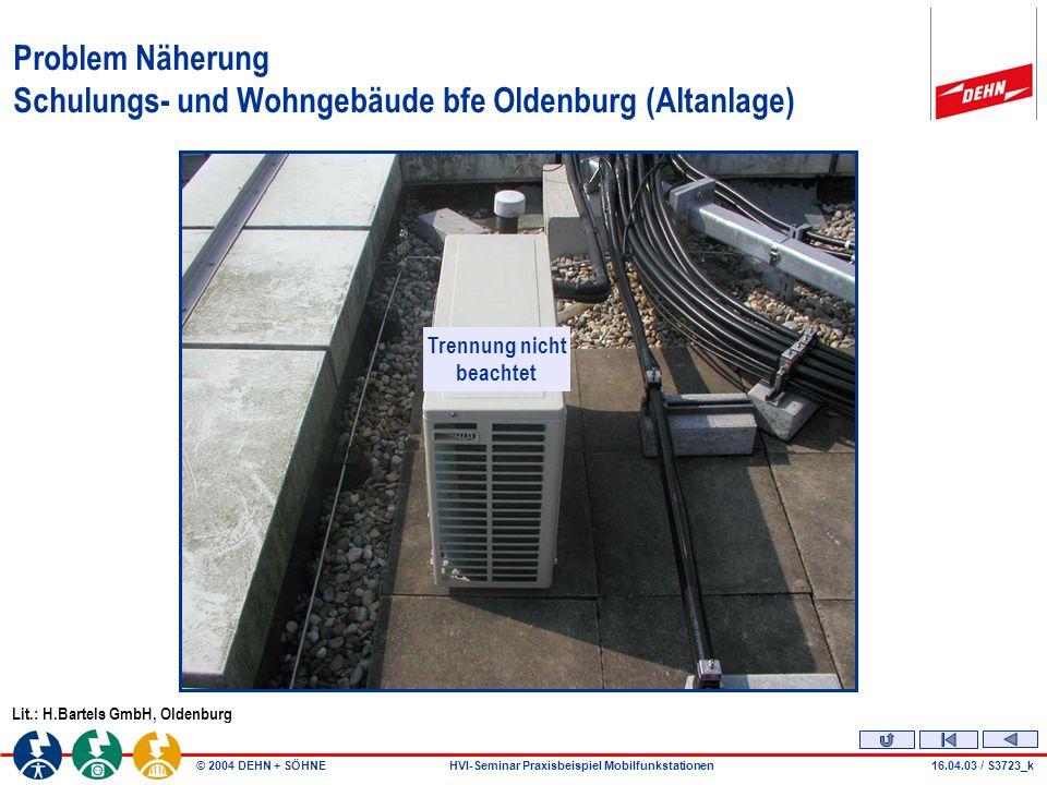 Problem Näherung Schulungs- und Wohngebäude bfe Oldenburg (Altanlage)
