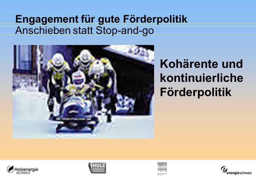 Engagement für gute Förderpolitik Anschieben statt Stop-and-go
