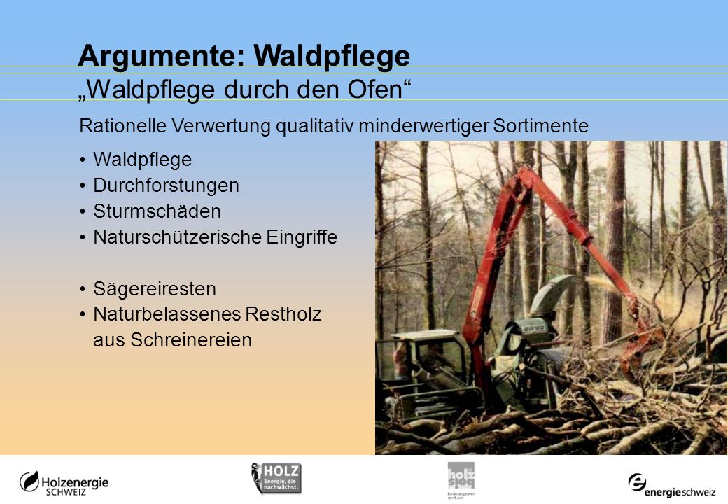 Argumente: Waldpflege