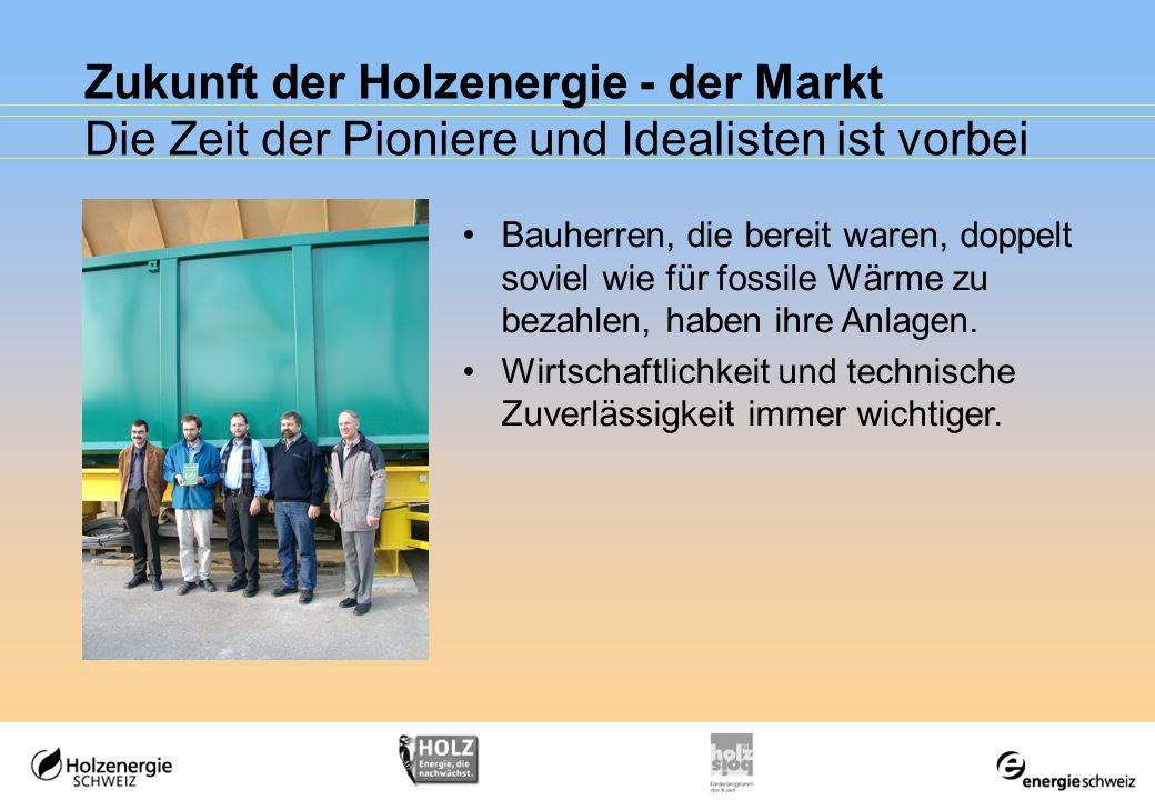 Zukunft der Holzenergie - der Markt Die Zeit der Pioniere und Idealisten ist vorbei