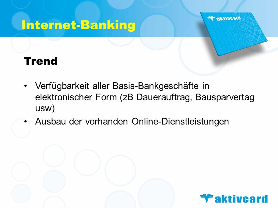 Internet-Banking Trend